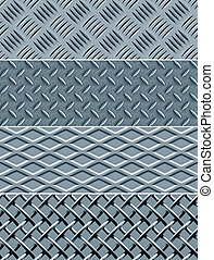 Metal texture seamless patterns - Four metal textures %u2014...