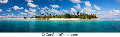 Tropical island panorama - Panorama of idyllic island and...