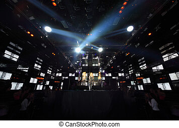 gente, concierto, club nocturno, fuego, exposición,...