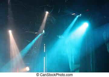 Spotlights in theatre