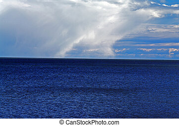 Storm Clouds over the Bay of Fundy - An early spring storm...