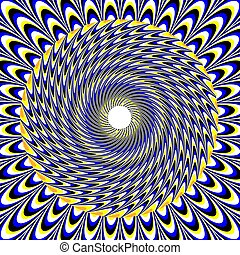 Absorption (motion illusion) - A patterned disk rotates in...