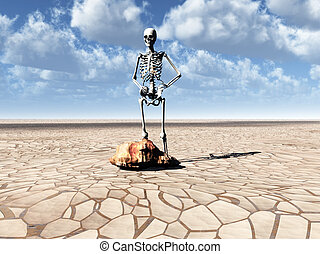 Drought And Poverty - Conceptual image about drought and how...