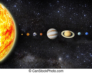 Solar system - Illustration of our solar system. - 3D REnder...