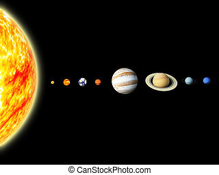 Solar system - Illustration of our solar system - 3D REnder...