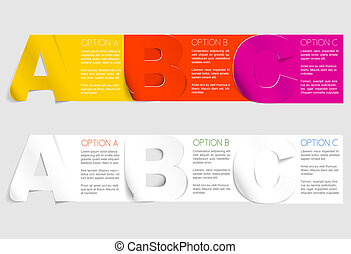 Vector progress background with three steps