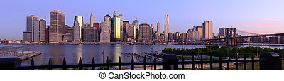 New York City Panorama - Wide angle panorama of new york...