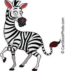 Zebra cartoon - Vector illustration of zebra cartoon