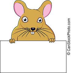 A cartoon mouse