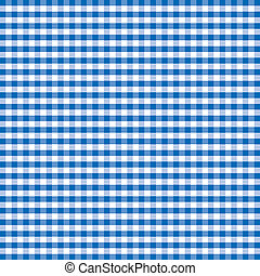 Seamless Pattern, Blue Gingham - Seamless pattern gingham...
