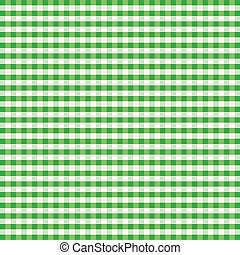 Seamless Pattern, Green Gingham - Seamless pattern gingham...