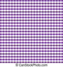 Seamless Pattern, Purple Gingham