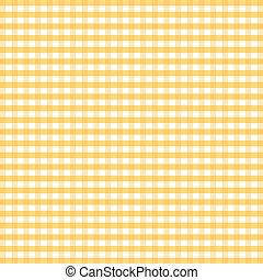 Seamless Pattern, Yellow Gingham