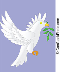 Dove vector - Illustration of dove vector with black...