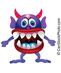Purple monster - Vector illustration of purple monster
