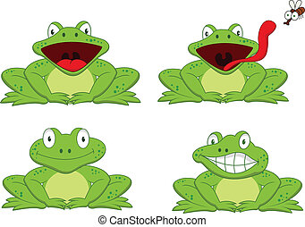 Funny frog - Vector illustration of funny frog collection