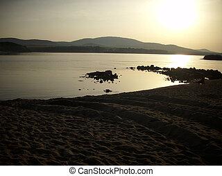 Romantic sunset - Sunset at the Bulgarian Black sea coast
