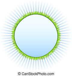 Circle with green grass