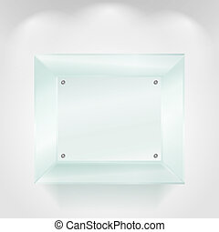 Transparent glass showcase, vector eps10 illustration