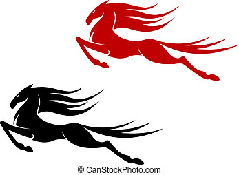 Fast horse - Fast jumping horse for equestrian sports design
