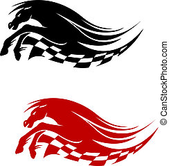 Horse symbol for racing sports design isolated on white...