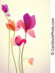 Five bright wild flowers - Vector illustration of five...