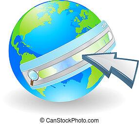 Internet web search concept