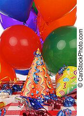 Party Favors - A festive arrangement of party favors on a...