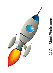 Clip art rocket against white background