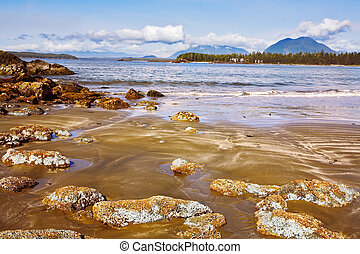 Outflow of the western Canada - Outflow at ocean coast of...