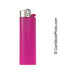 Lighter - A cigerette lighter isolated against a white...