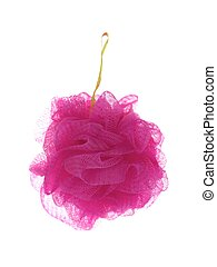 Shower Scrubber - A shower scrubber isolated against a white...