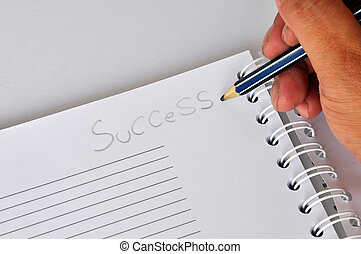 "Pen writing ""Success"""
