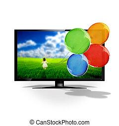 tv,  3D
