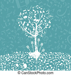 Musical tree - Tree from musical notes A vector illustration...