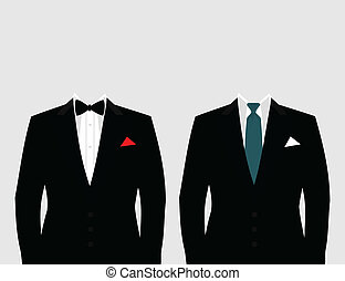 Suit of the businessman. A vector illustration