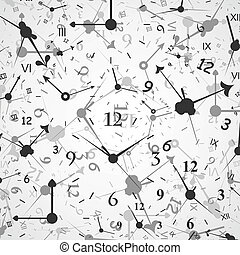 Hour background - Grey background of hours A vector...