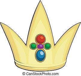 Cartoon  illustration of the royal crown