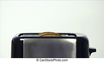 Toasting Grain Bread - black kitchen toaster with fresh...