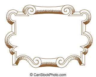 baroque architectural ornamental decorative frame - baroque...
