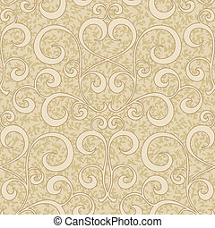 abstract beige floral seamless background - abstract beige...
