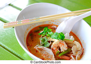 Very tasty tomyam noodle soup - A colourful Thai tomyam...