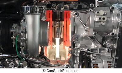 heavy truck engine detail