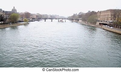 Seine river in Paris - Navigation on Seine River, Paris,...