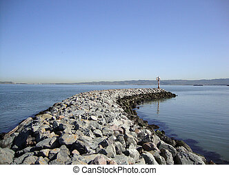Rock Jetty into the Bay