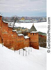 March in Nizhny Novgorod Kremlin Russia