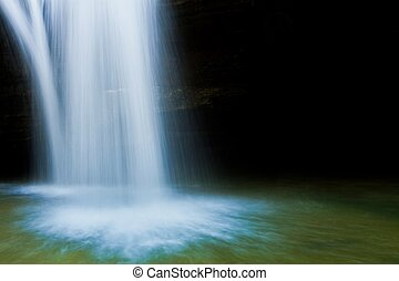Cedar Falls closeup, copy space - Cedar Falls closeup with...