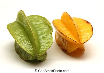 isolated star fruits