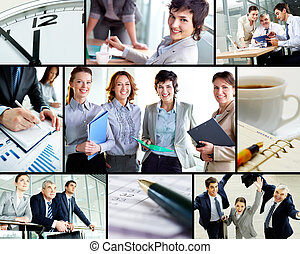 Success in business - Collage of successful business...