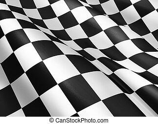 checkered flag - Black and white checkered flag background,...